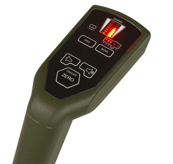 Metal detector for mines with a minimum amount of metal